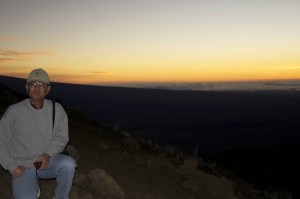 Randy at sunset on Mauna Kea