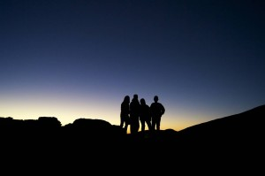 Love this shot of my kids and I on Mauna Kea